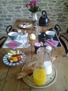 gîte-Location-de-vacances-roscoff petit déjeuner